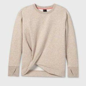 All in Motion Girls Fleece Twist-Front Sweatshirt